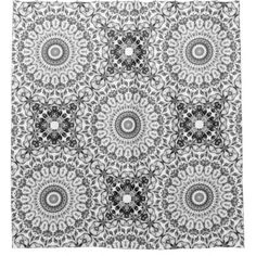 #floral - #Gray Floral Mandala Shower Curtain