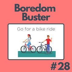 Dust off your old bikes and go on a bike ride in your neighborhood! Boredom Busters, Old Bikes, The Neighbourhood, Old Motorcycles, The Neighborhood