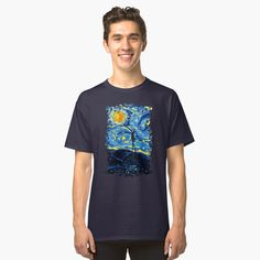 Jack starry night classic T-shirt #tee #tshirt #clothing #unisex #artstyle #Photography #Digitalmanipulation #nightmarebeforechristmast #halloween #jack #skellingtons #ghost #christmast #blackwhite #hauntedmansion #funny #cute #monster #kids #children #baby #skull #diademuertos #dayofthedead #skeletons #cartoons #comics #movie #scary #spooky #horor