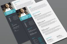 Ad: Resume/CV by Designs Bird on Clean Resume/CV template to help you land that great job. All artwork and text is fully customisable; Easily edit the typography, wording, Student Resume Template, Modern Resume Template, Creative Resume Templates, Cv Template, Cover Letter For Resume, Cover Letter Template, Typography, Lettering, Freelance Graphic Design