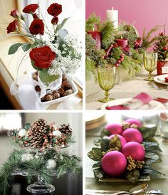 50 Great & Easy Christmas Centerpiece Ideas    Various ideas nice web site to look at