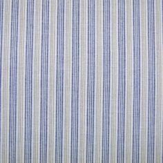 Baumwolle rein - Baumwollstoff Streifen blau beige gewebt - ein Designerstück von Online-Stoffe-Werning bei DaWanda