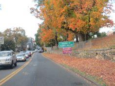 Entering the village of Sleepy Hollow in October