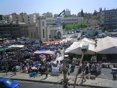 The famous Friday market in Midtown, Amman. You can find everything here for very cheap, including black market I'm certain. Midtown is famous in Lonely Planet Travel Guides to Jordan, as is the famous Hashem restaurant that all tourists insist on eating at :)