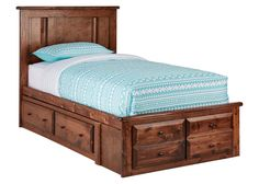 CATALINA 4PC PLAT TWIN BED W/STRG CHESTNUT