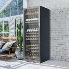 Store your wine perfectly in an impressive freestanding, stainless steel wine cooler with a 132 bottle capacity. The UK's number one brand of wine coolers. Wine Cabinets, Black Cabinets, Air Ventilation, Sliding Shelves, Wine Chiller, Sink Taps, Stainless Steel Doors, White Led Lights, Water Tank