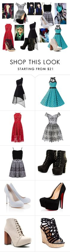 """Dresses"" by makenzi-purdy on Polyvore featuring David Koma, Warehouse, Alice + Olivia, FRACOMINA, Lipsy, Qupid, Charles by Charles David and Anastasia Beverly Hills"