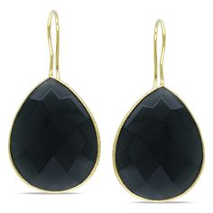 @Overstock - Adorn your ears in extraordinary style with these yellow gold grey onyx earrings. The earrings feature a pear-cut double checkerboard grey onyx gemstone that is set in brass metal for a stunning look that will complement any ensemble.http://www.overstock.com/Jewelry-Watches/Miadora-22k-Yellow-Gold-Overlay-Grey-Onyx-Dangle-Earrings-28ct-TGW/6462389/product.html?CID=214117 $41.49