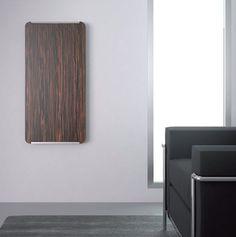 Hot water radiator / wall-mounted / wood / vertical EARTH i-radium