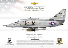 """A-4C """"Skyhawk"""" VA-212 """"Rampant Raiders"""" JP-348"""