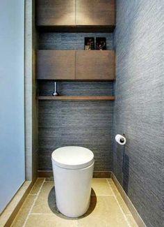 San Francisco interior design firm Jugendstil Design Shelves/storage behind toilet Beautiful Bathrooms, Modern Bathroom, Small Bathroom, Master Bathroom, Bathroom Mirrors, Minimal Bathroom, Toilette Design, Bad Inspiration, Bathroom Inspiration
