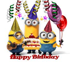 Take a look at the best Minion birthday quotes in the photos below and get ideas for your own birthday wishes! Happy Birthday My Friend, Happy Birthday Status, Funny Happy Birthday Images, Happy Birthday Minions, Birthday Wishes Funny, Birthday Blessings, Singing Happy Birthday, Happy Birthday Messages, Happy Birthday Greetings