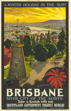 A Winter Holiday in the Sun! Brisbane, River City of the North, Take a Kodak with You, c 1934. Queensland State Archives, Digital Image ID 22134