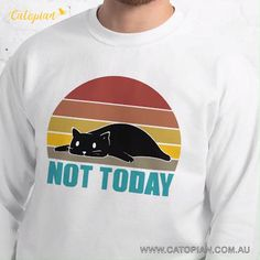 Vintage Style Not Today Cat Unisex Sweatshirt – knitting sweaters videos Men's Shirts And Tops, Sweaters For Women, Men Sweater, Winter Outfits Men, Vintage Florida, Vintage Fashion, Vintage Style, Weekend Outfit, Graphic Sweatshirt
