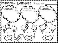 Reindeer Research Mini Unit -1st-2nd grade!... by 1st Grade is WienerFUL | Teachers Pay Teachers