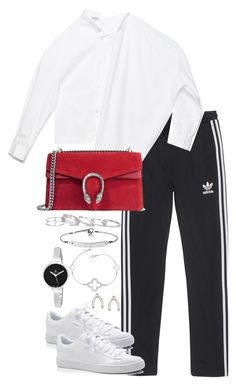 """Untitled #3796"" by theeuropeancloset on Polyvore featuring adidas Originals, Gucci, Puma, Kendra Scott, MICHAEL Michael Kors, Christian Van Sant and Orelia"