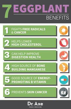 Eggplant Benefits  http://www.draxe.com #health #holistic #natural