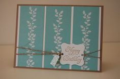 """Card with Stampin' up-Set """"Borderlines"""""""