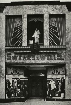 Art Deco Swears & Wells Ltd, Ladies Modes, 1926 The Shops of Old London London Pictures, London Photos, Old Pictures, Old Photos, Vintage London, Old London, Vintage Shops, London Pubs, London History