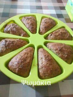Ψωμί     2 κσ πίτουρο βρώμης 1 κσ πίτουρο σιταριού 5 κσ γιαουρτι στραγγιστό 1 κγ μπέκιν παουντερ 2 αυγά μεγάλα Λίγο αλάτι,  δυόσμο, ρίγανη Και αν θέλεις 1 κσ psyllium τα κάνει ποιό ψωμένια και τούμπανο ασε που βοηθάει πολύ για το έντερο.  Ψηνω στους 170c για 40min ( ο φούρνος μου ειναι μέτριος)  Την συνταγή αυτή την εμπνεύστηκε η Fotini PaschalerisMavris να τα λέμε αυτά!  Καλή επιτυχία