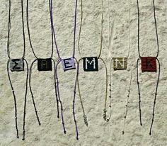 Macrame monograms handmade by Catherine Diamantopoulou