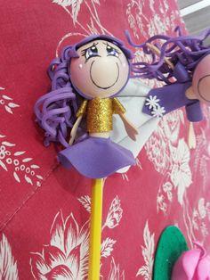 Linda ponteira para lápis ou caneta fadinha borboleta lilás. Não acompanha o lápis. Lindo presente com preço de lembrancinha. as meninas adoram.