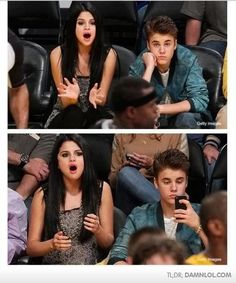 Selena Gomez and Justin Bieber, funny couple - funny pictures - funny photos - funny images - funny pics - funny quotes - funny animals @ humor Funny Captions, Funny Memes, Funny Sports Memes, Nba Memes, Funny Quotes, Soccer Memes, Funny Gym, That's Hilarious, Funniest Memes