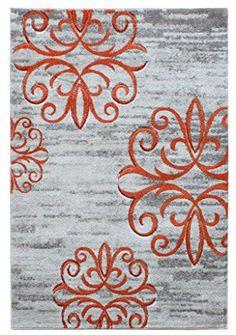 Teppich Wohnzimmer Carpet modernes Design VOQUE STERNE RUG 100% Polypropylene 60x120 cm Rechteckig Orange | Teppiche günstig online kaufen https://www.amazon.de/dp/B017RBC9OE