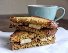 Separate Toasters: Comfort Food: Almond Butter and Banana Toastie