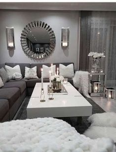 10 Comfortable and Cozy Living Rooms Ideas You Must Check! - Hoomble,Most comfortable and cozy living room ideas Creative Home Decor Ideas Decorating domiciles may appear to be a pla. Living Room Decor Cozy, Living Room Grey, Home Living Room, Apartment Living, Living Room Furniture, Living Room Designs, Bedroom Decor, Mirror Decor Living Room, Rustic Furniture