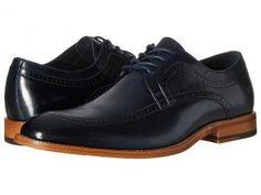 Stacy Adams Dwight Moc Toe Oxford (Navy) Men's Lace Up Moc Toe Shoes