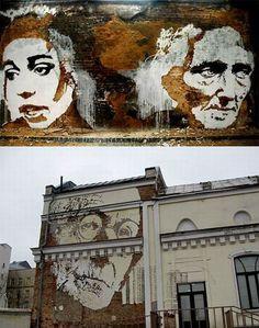 13 Panoramic Street Artists Stencil Far
