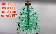 Como fazer uma árvore de natal com garrafas PET #diy #comofazer #dicas #artesanato #natal #garrafapet #natalino