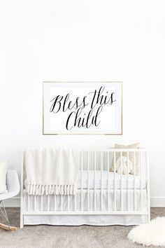 YOU PRINT PRINTABLE Wall Art Bless This Child  by LuminousPrints