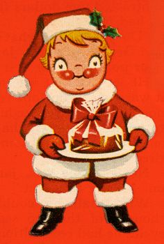 Campbell Kid Santa Claus, 1962--SHE COULD START TO SCARE YOU IF YOU STARE AT HER LONG ENOUGH!