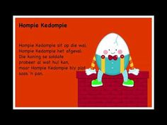 Hompie Kedompie - Kinderrympies in Afrikaans Free Printable Alphabet Worksheets, Afrikaans Language, Preschool Learning, Kids Songs, Classroom, Education, Reading, Chocolate Cake, Quotes