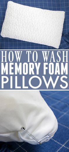 How to Wash Memory Foam Pillows | The Creek Line House