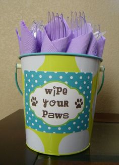 Items Similar To Puppy Paw Printable Napkin Rings On Etsy