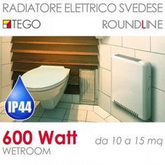 Radiatore elettrico svedese 600W Wetroom basso consumo IP44 fino a 15mq #radiatorisvedesi #bassoconsumo #tego #riscaldamento #casa