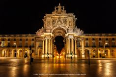 Golden by Nuno Trindade on ---- Lisboa, Portugal Visit Portugal, Spain And Portugal, Portugal Travel, Lisbon Portugal, Lisbon Map, Earthquake And Tsunami, Living In Europe, Beautiful Buildings, Beautiful Places