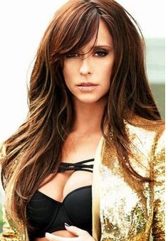Jennifer Love Hewitt long hair with some layers, long bangs swept to the side. Jennifer Love Hewitt Body, Corte Y Color, Long Bangs, Great Hair, Hair Today, Hair Dos, Gorgeous Hair, Pretty Hairstyles, Latest Hairstyles