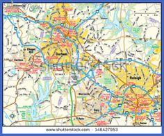 cool Raleigh Metro Map