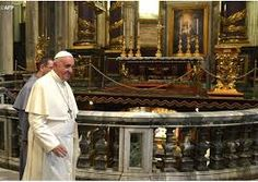 Image result for pope francis returns to the vatican