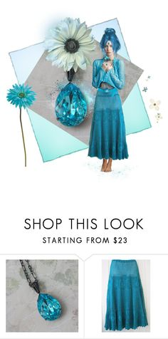 Aqua Marine ~ Gypsy Flower Girl by funkyjunkygypsy on Polyvore featuring мода and Allstate Floral