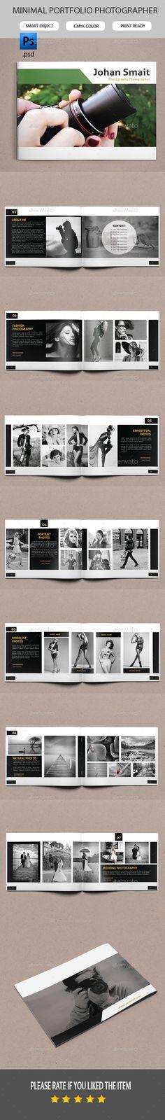 Portfolio Photographer Album Template #design Download: http://graphicriver.net/item/portfolio-photographer/11319129?ref=ksioks