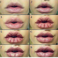 Lip contouring tag her . . #vegas_nay #bblogger #brows #hudabeauty #1minutemakeup #wakeupandmakeup #liptutorial #makeupaddict #makeover…