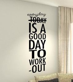 Everyday Workout Motivational Fitness Gym workout Quote wall vinyl decals stickers DIY Art Decor Be
