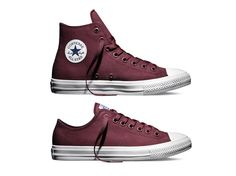 f5cab11c4828 Maroon fans will like the fact that the Converse Chuck Taylor All Star II   Bordeaux  has released online in a high top and a low
