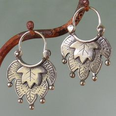 Alhambra+ll+Earrings++hoop+style++sterling+silver+by+BobsWhiskers,+$52.00