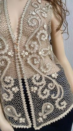 Col Crochet, Irish Crochet Patterns, Irish Design, Embroidery Designs, Cover Up, Knitting, Dresses, Ideas, Fashion